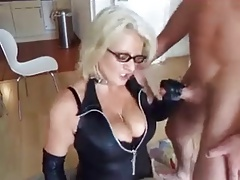 blonde mature fucks her cut..