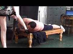 Cinthya Beating the spanked..
