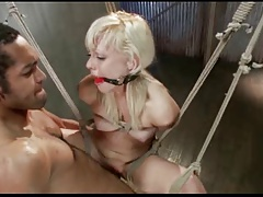 Blond Teen Tied Up plus..