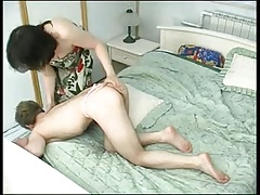 Sexy Mommie catches her boy..