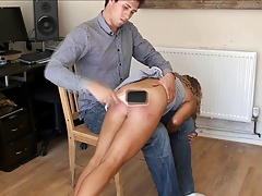 hard spanking with hairbrush