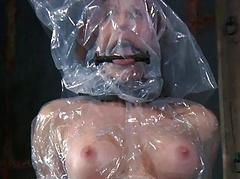 Bare and gagged babe..