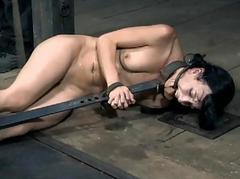Tough cutie in shackles gets..