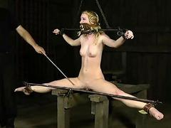Caged up cutie is forced to..