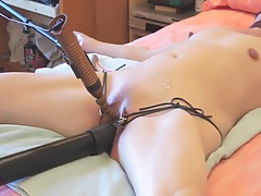 Submissive spliced tied and..