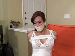 slim mature hogtied