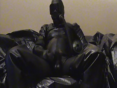 Cumshot in full rubber,..