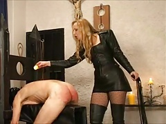 Mistress gives her slave a..