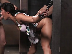 Shackled Asian slut's..