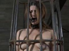 Gal is caged up nigh her..