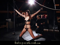 Tall slave girl gets keen..