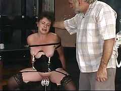 Duo old guys torture mature..