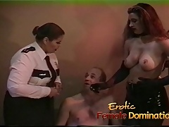 Policewoman and a dominatrix..