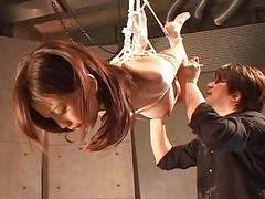 Asian slut hangs on the..