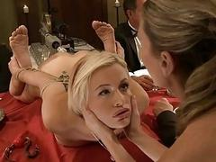 Bounded hottie receives a..