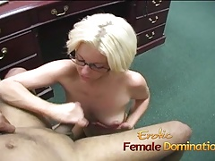 Lusty slut used her hands on..