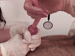 finger almost to peehole