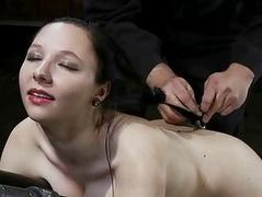 Pretty hot babe gets punished