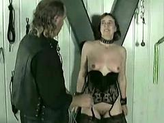 Mature slave gets hits on..