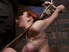 Bound throat fucked and..