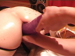 Tattoed slave giant anal..