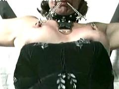 Elderly slave tied to a..