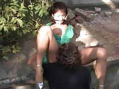 Hot luring girl dominated..