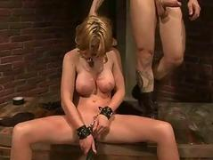 Busty sex slave gets fucked..