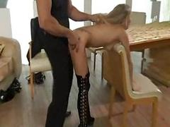 German blond slave fucking..
