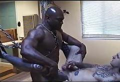 Interracial BDSM orgy with..