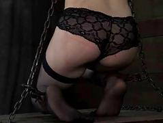 Tied in knockers with toy..