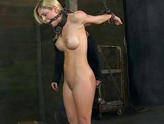 Caged babe forced to wide..