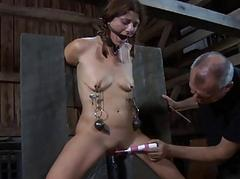 Babe gets lusty cunt exhorting