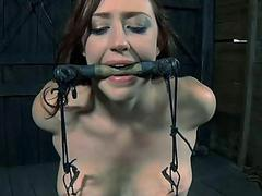 Lusty lashing for tough chick