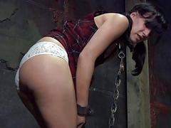 Caged babe forced to nearly..