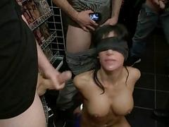 Busty prisoner used as sex..