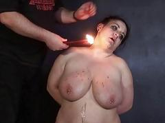 Amateur bdsm and hot wax..