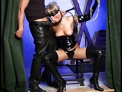 Youthful cougar tied up with..