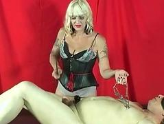 Mistress Kelly punishes cock..