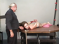 Young female sub gets her..