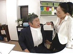 Japanese Boss fucks her..