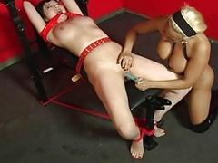 Tied up Asian slut has a..