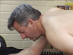 Elder stud gets ass spanked..