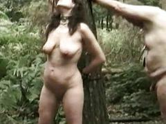 Slave tied to a tree with..