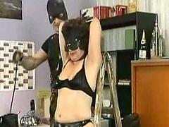 Masked slave gets pulled not..
