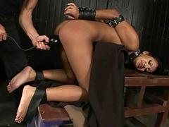 Exotic girl gets bondaged..